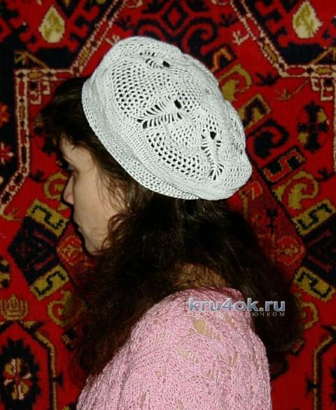 Летний берет крючком - работа Ольги вязание и схемы вязания