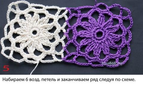 МК соединение мотивов при вязании крючком вязание и схемы вязания