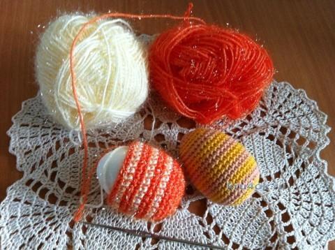 Пасхальное яичко крючком - работа Надежды Борисовой вязание и схемы вязания