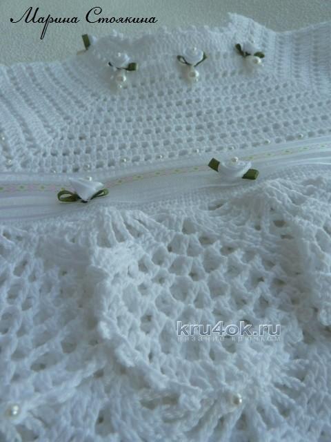 Платье для девочки - работа Марины Стоякиной вязание и схемы вязания