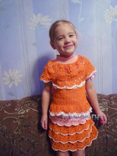 Костюм для девочки - работа Татьяны вязание и схемы вязания