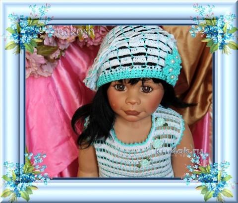 Платье и берет для девочки - работа Ирины Кангаш вязание и схемы вязания