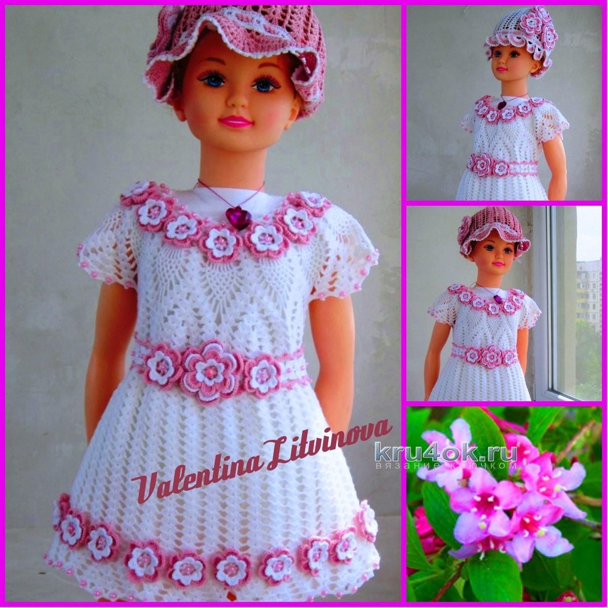 Как украсить вязаное платье для девочки своими руками 39