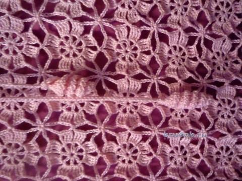 Платье крючком - работа Татьяны вязание и схемы вязания