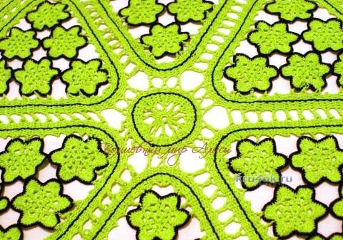 Салфетка брюгге - работа Алисы вязание и схемы вязания