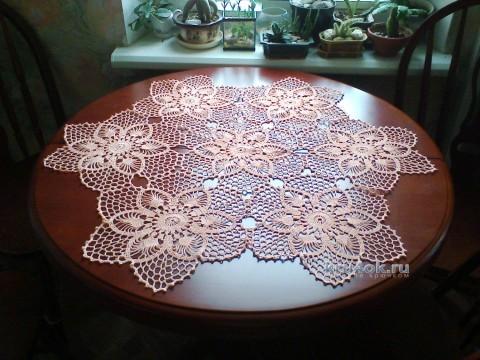 Салфетка крючком - работа Натальи вязание и схемы вязания