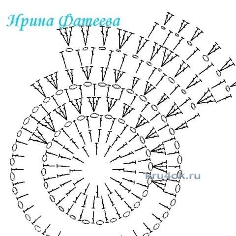 Шапочка для девочки - работа Ирины Стильник вязание и схемы вязания