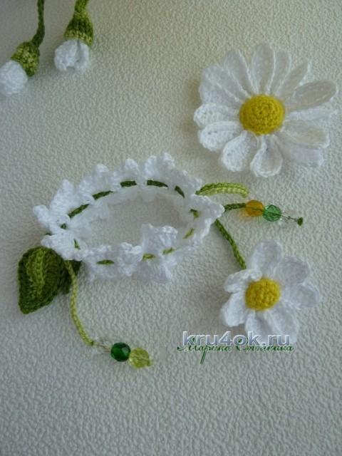 Шапочка и браслет крючком вязание и схемы вязания
