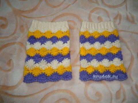 Шапочка, манишка и гетры крючком - работы Татьяны вязание и схемы вязания
