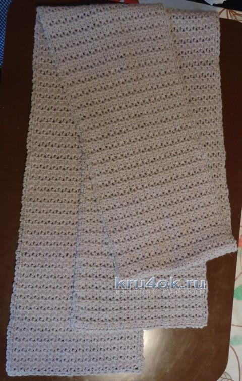 Шарф крючком - работа Елены вязание и схемы вязания