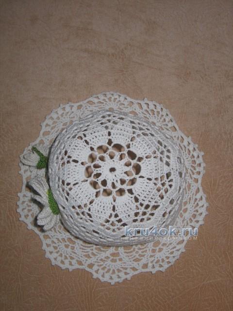 Шляпка для девочки - работа Маргариты вязание и схемы вязания