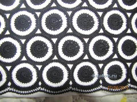 Топ для девочки Черно-белое настроение вязание и схемы вязания
