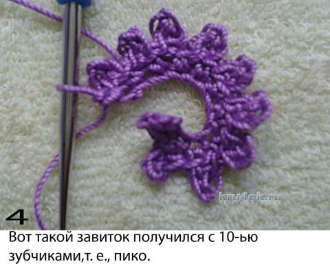 Веточка с мелкими цветками. МК ирландское кружево вязание и схемы вязания