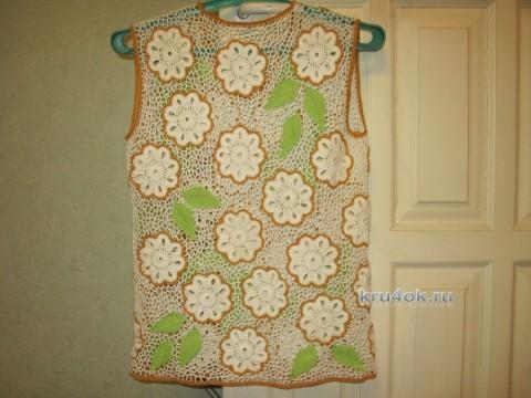 Вязаная крючком блуза - работа Любови вязание и схемы вязания