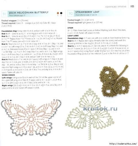 Вязаная крючком шапочка - работа Марины Стоякиной вязание и схемы вязания