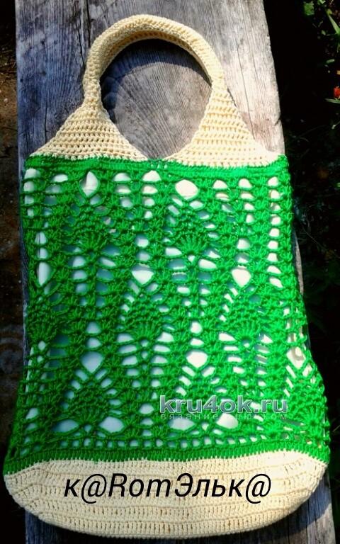 Вязаная крючком сумочка - работа кaRomЭлькa вязание и схемы вязания