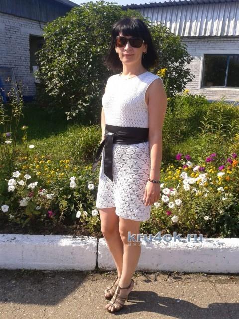 Вязаное крючком платье - работа Антонины вязание и схемы вязания
