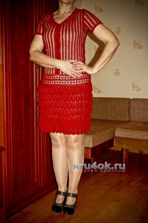 Вязаное крючком платье - работа Анжелы вязание и схемы вязания