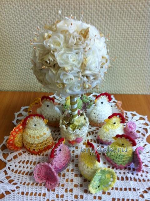 Вязаные курочки на Пасху - работа Надежды Борисовой вязание и схемы вязания