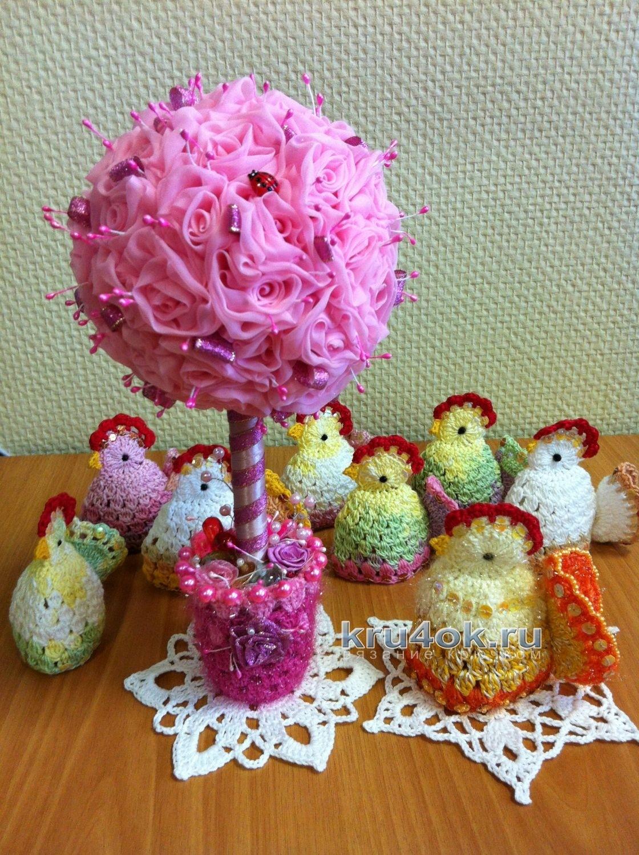 схема курочки для яиц к пасхе вязанные