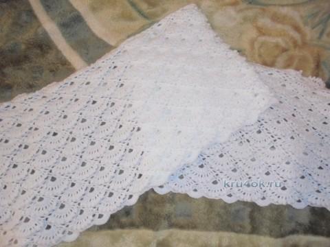 Вязаный крючком палантин - работа Натальи Трусовой вязание и схемы вязания