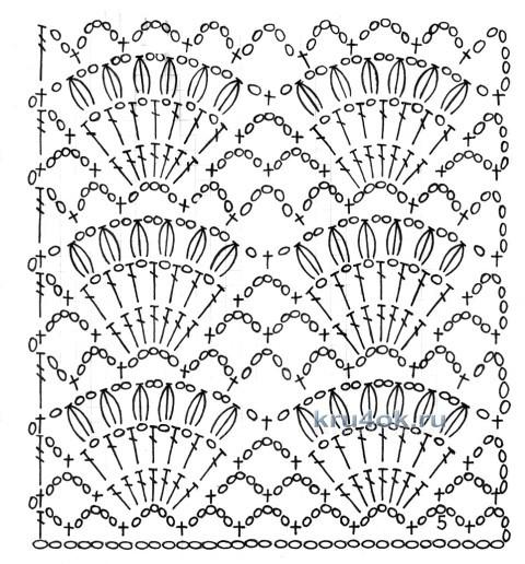 Вязаный крючком свитер - работа Татьяны вязание и схемы вязания