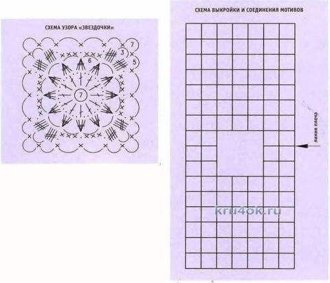 Вязаный крючком топ - работа Надежды Лавровой вязание и схемы вязания