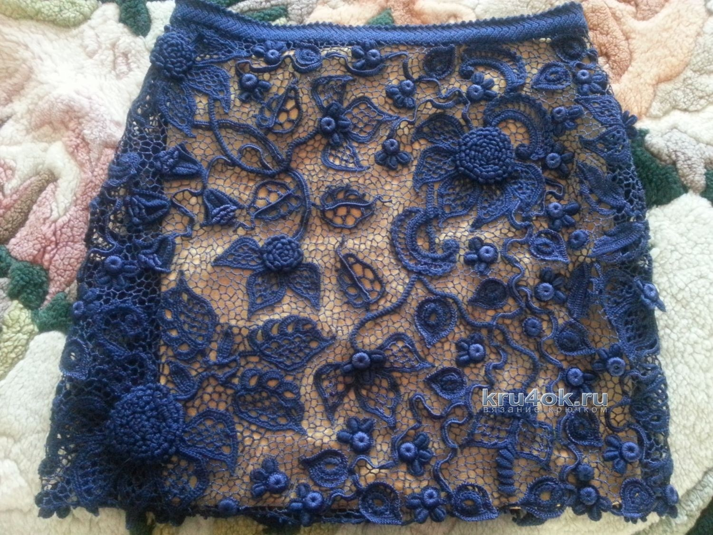 Вязание крючком цветочков ирландское вязание