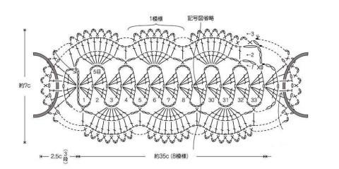 Схема вязания повязки: