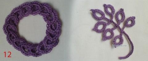 Бретели и пояс для детского платья. МК вязание и схемы вязания