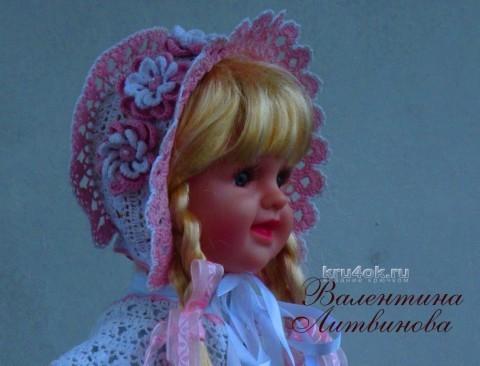 Капор для девочки - работа Валентины Литвиновой вязание и схемы вязания