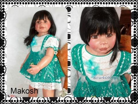 Комплект для девочки - работа Ирины Кангаш вязание и схемы вязания
