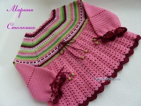 Комплект для девочки - работа Марины Стоякиной вязание и схемы вязания