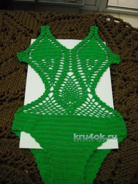 Купальник для девочки крючком - работа Ирины вязание и схемы вязания