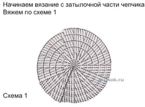 Панамка для девочки - работа Ирины Стильник вязание и схемы вязания