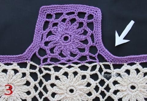 Платье для девочки - работа Ефимии Андреевских вязание и схемы вязания