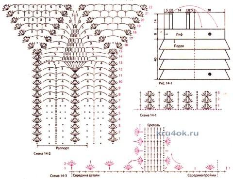 Платье для девочки - работа Ларисы вязание и схемы вязания