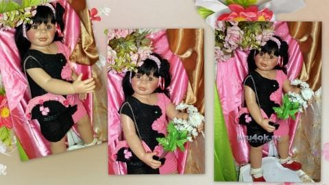 Платье и сумочка для девочки - работа Ирины Кангаш вязание и схемы вязания