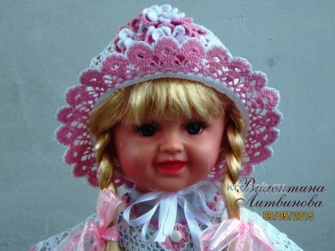 Платье, панама и капор для девочки - работы Валентины Литвиновой вязание и схемы вязания