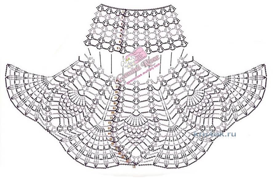 Вязаный пояс крючком схемы для