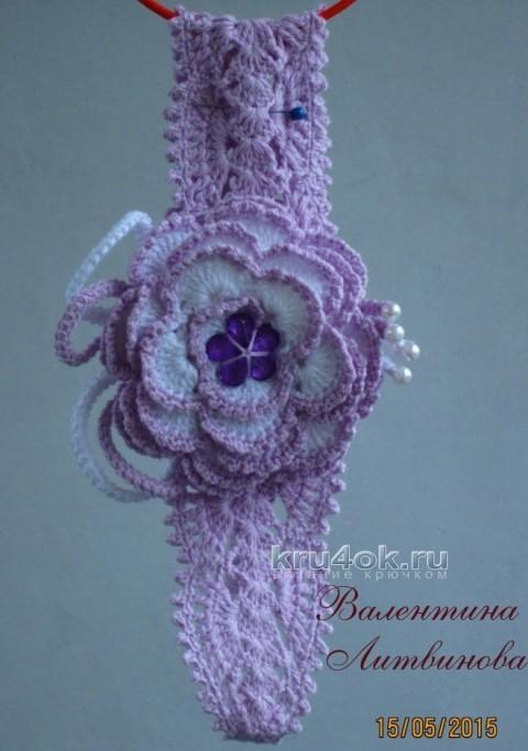 Повязка на голову - работа Валентины Литвиновой вязание и схемы вязания