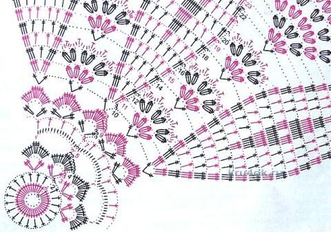Салфетка крючком - работа Валентины Литвиновой вязание и схемы вязания