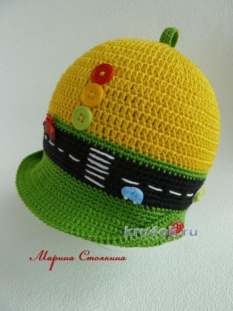 Шапочка для мальчика - работа Марины Стоякиной вязание и схемы вязания