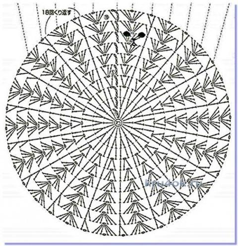 Шапочка и сумочка для девочки - работа Марины Стоякиной вязание и схемы вязания