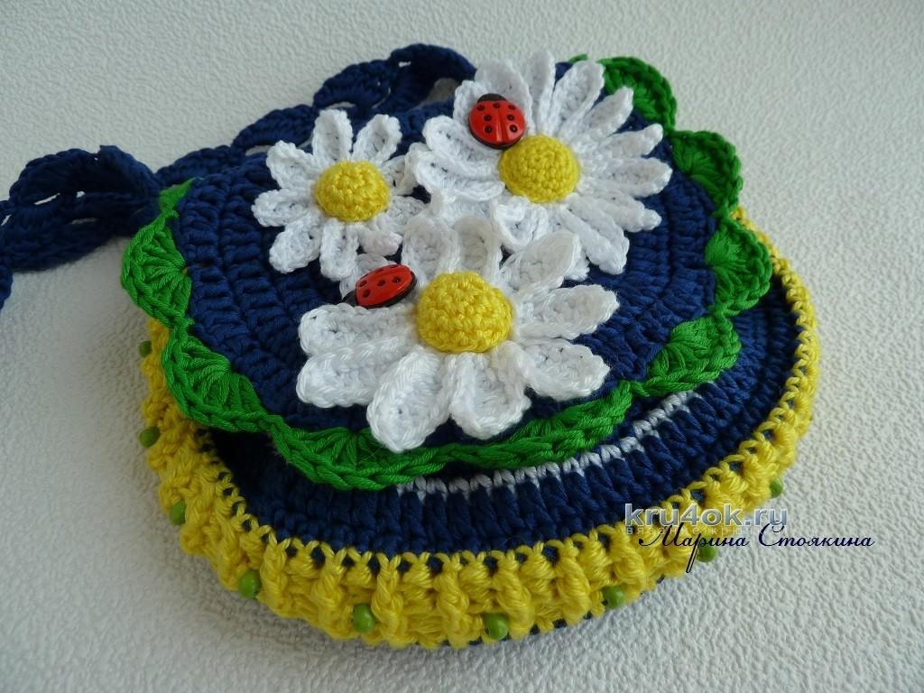 ae3c39d3f238 Шапочка и сумочка для девочки крючком - работа Марины Стоякиной вязание и  схемы вязания Увеличить. Схема вязания сумочки: