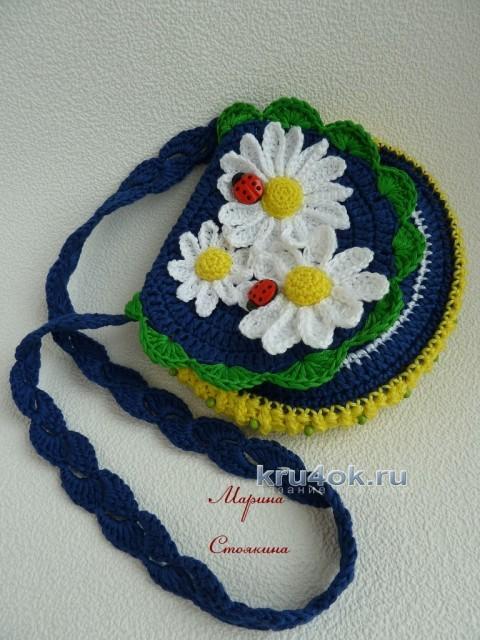 Шапочка и сумочка для девочки крючком - работа Марины Стоякиной вязание и схемы вязания