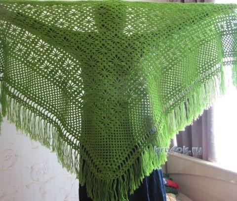 Вязаная крючком шаль - работа Светланы вязание и схемы вязания