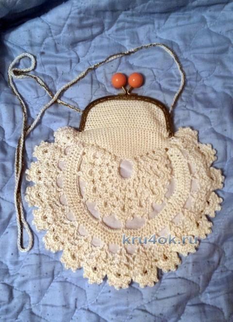 Вязаная крючком сумочка - работа Юлии Галецкой вязание и схемы вязания