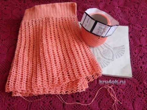 Вязаная крючком юбка - работа Надежды Лавровой вязание и схемы вязания