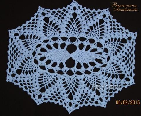 Вязаная салфета - работа Валентины Литвиновой вязание и схемы вязания